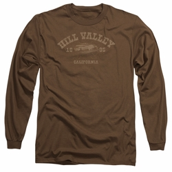 Back To The Future III adult long-sleeved shirt Hill Valley 1885 coffee