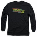 Back To The Future III adult long-sleeved shirt Logo black