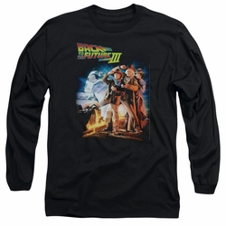 Back To The Future III adult long-sleeved shirt Poster black