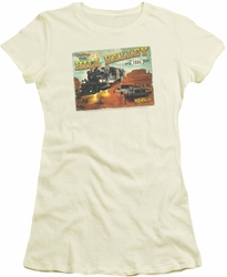 Back To The Future III juniors t-shirt Hill Valley Postcard cream