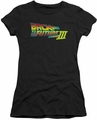 Back To The Future III juniors t-shirt Logo black