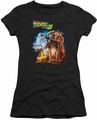 Back To The Future III juniors t-shirt Poster black
