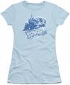 Back To The Future III juniors t-shirt Time Train light blue
