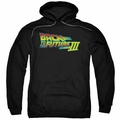 Back To The Future III pull-over hoodie Logo adult black