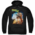 Back To The Future III pull-over hoodie Poster adult black