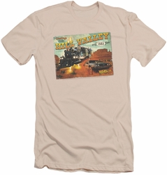 Back To The Future III slim-fit t-shirt Hill Valley Postcard mens cream