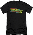 Back To The Future III slim-fit t-shirt Logo mens black