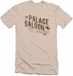 Back To The Future III slim-fit t-shirt Palace Saloon mens cream