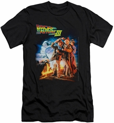 Back To The Future III slim-fit t-shirt Poster mens black