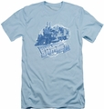 Back To The Future III slim-fit t-shirt Time Train mens light blue