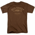 Back To The Future III t-shirt Hill Valley 1855 mens coffee