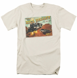 Back To The Future III t-shirt Hill Valley Postcard mens cream