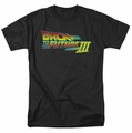 Back To The Future III t-shirt Logo mens black
