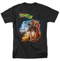 Back To The Future III t-shirt Poster mens black