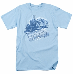 Back To The Future III t-shirt Time Train mens light blue