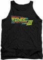 Back To The Future III tank top Logo mens black