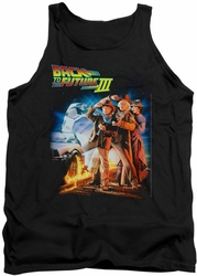 Back To The Future III tank top Poster mens black