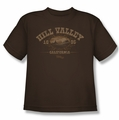 Back To The Future III youth teen t-shirt Hill Valley 1855 coffee