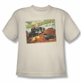 Back To The Future III youth teen t-shirt Hill Valley Postcard cream