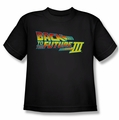 Back To The Future III youth teen t-shirt Logo black