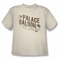 Back To The Future III youth teen t-shirt Palace Saloon cream