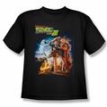 Back To The Future III youth teen t-shirt Poster black