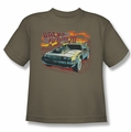 Back To The Future III youth teen t-shirt Wild West safari green