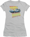 Back To The Future juniors t-shirt 88 MPH silver