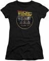 Back To The Future juniors t-shirt Back black