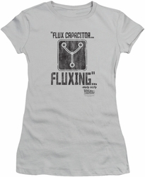 Back To The Future juniors t-shirt Fluxing silver