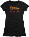 Back To The Future juniors t-shirt Future Is Here black