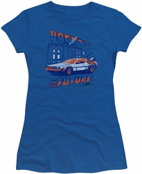 Back to the Future juniors t-shirt Ligtning Strikes royal