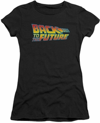 Back To The Future juniors t-shirt Logo black