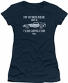 Back To The Future juniors t-shirt Other Ride navy