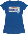 Back To The Future juniors t-shirt Outatime Plate royal