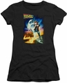 Back To The Future juniors t-shirt Poster black