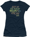 Back To The Future juniors t-shirt Say Hi navy