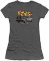Back To The Future juniors t-shirt Time Machine charcoal