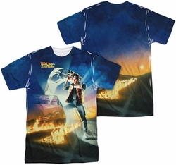 Back To The Future mens full sublimation t-shirt Movie Poster