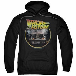 Back To The Future pull-over hoodie Back adult black