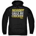 Back To The Future pull-over hoodie Chicken adult black