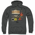 Back To The Future pull-over hoodie Items adult charcoal