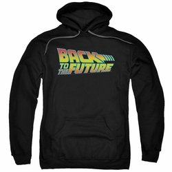 Back To The Future pull-over hoodie Logo adult black