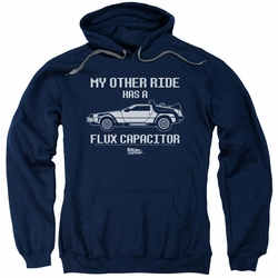 Back To The Future pull-over hoodie Other Ride adult navy