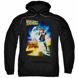 Back To The Future pull-over hoodie Poster adult black
