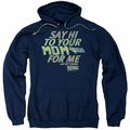 Back To The Future pull-over hoodie Say Hi adult navy