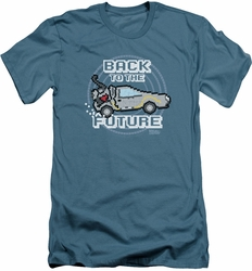 Back To The Future slim-fit t-shirt 8 Bit Future mens slate