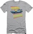 Back To The Future slim-fit t-shirt 88 Mph mens silver