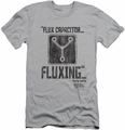 Back To The Future slim-fit t-shirt Fluxing mens silver