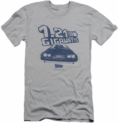 Back To The Future slim-fit t-shirt Gigawatts mens silver